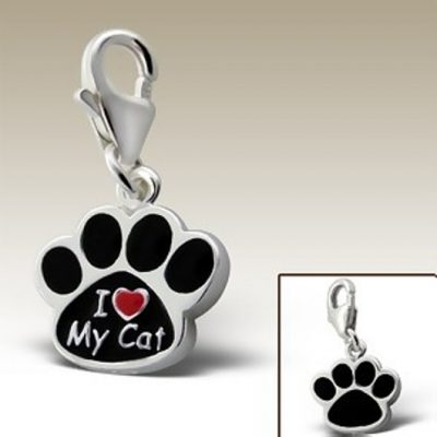 I love my Cat clip on charm Sterling Silver