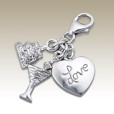 Cake Cocktail Love clip on charms Sterling Silver (3 in 1)