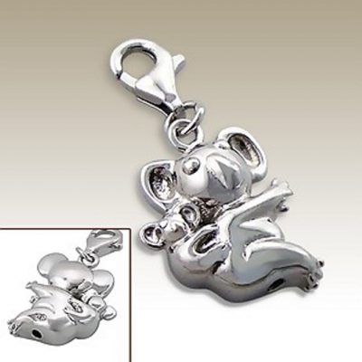 Koala clip on charm Sterling Silver