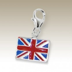 Flag UK clip on charm Sterling Silver