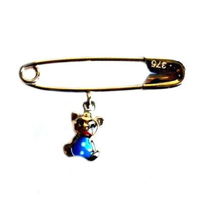 9ct yellow Gold baby pin brooch Teddy Bear