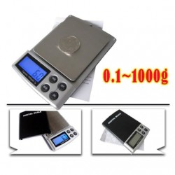 Digital mini scales High Quality 1000g x 0.1g silver