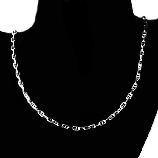 sliver silver chain chains box mens polished sterling necklace