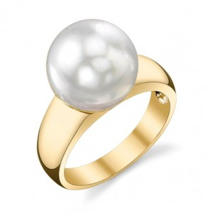 South Sea WHITE Pearl ring 14K Gold