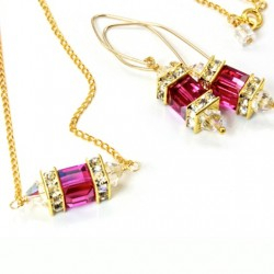 14k-gold-fill-earrings-necklace-set-swarovski-crystal-FUCHSIA-asc-set-00002F-530-2