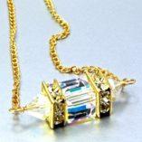 18K-gold-filled-necklace-swarovski-crystal-Clear-AB