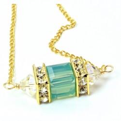 18K gold filled necklace Swarovski crystal PACIFIC OPAL