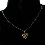 14K yellow rose Gold Love heart charm pendant