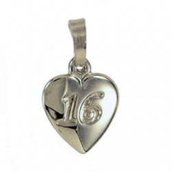 16th birthday Pendant charm Fine Silver