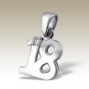 18th birthday Pendant charm Sterling Silver