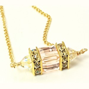 18K gold filled necklace Swarovski crystal SILK