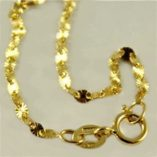 18ct-gold-chain-star-diamond-cut-45cm-italy
