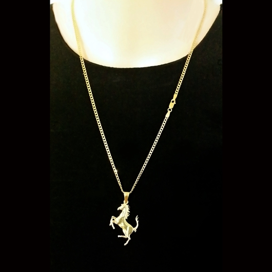 18ct Gold Ferrari Pendant Exclusively Made By European