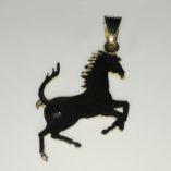 18ct-gold-Ferrari-pendant-prancing-horse-back
