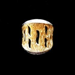 Ring Sterling Silver 18k gold plating AZTEC