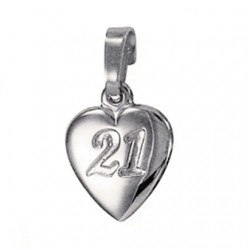21st birthday Pendant charm Fine Silver