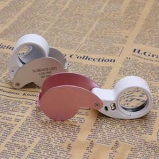 40x magnification Magnifier loupe LED light white and pink