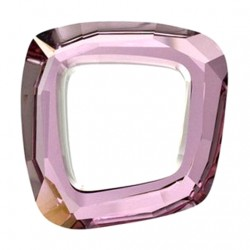 Swarovski Crystal 20mm Cosmic asymmetrical square Antique Pink