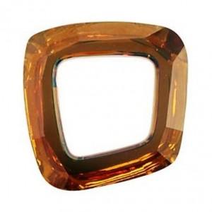 Swarovski Crystal 20mm Cosmic asymmetrical square Copper CAL