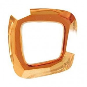 Swarovski Crystal 20mm Cosmic asymmetrical square Copper