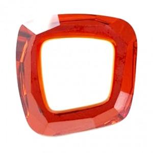 Swarovski Crystal 20mm Cosmic asymmetrical square Red Magma