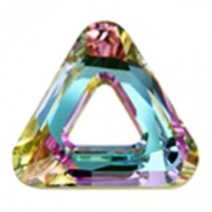 Swarovski Crystal 14mm Cosmic triangle Vitrail Light 4437