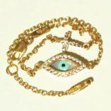 9ct-Gold-evil-eye-cross-bracelet-aloro
