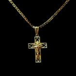 9ct-tri-colour-gold-crucifix-pendant-diamond-cut-11856