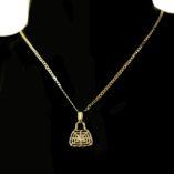 9ct-gold-diamond-cut-curb-dia-cut-2mm-chain-handbag-pendant-Italy