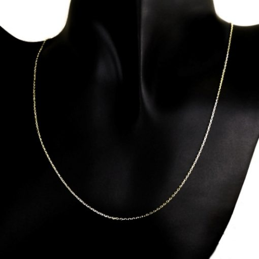 9ct Gold chain Cable diamond cut 0.9mm Italy