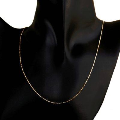 9ct Gold chain Cable diamond cut