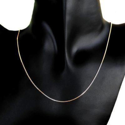 9ct Gold Curb diamond cut chain 1.25mm Italy