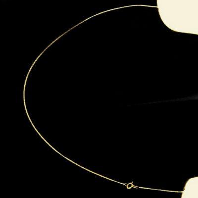 9ct Gold Curb chain diamond cut 0.9mm Italy