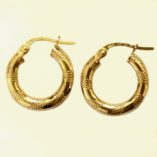 9ct-9kt-gold-hoop-earrings-grid-16mm-Italy