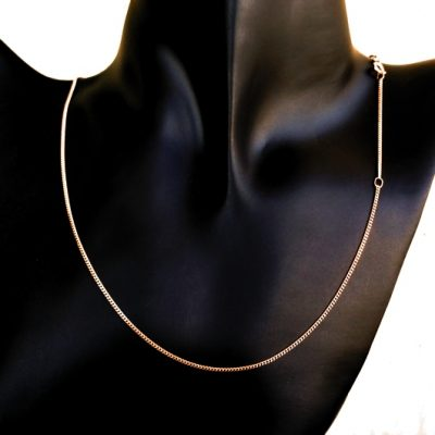 9ct rose Gold Curb chain 1.8mm 45cm Italy