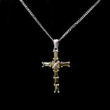9ct-white-gold-cross-pendant-green-stones