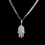 9ct-white-gold-Hamsa-pendant-sparkling-stones