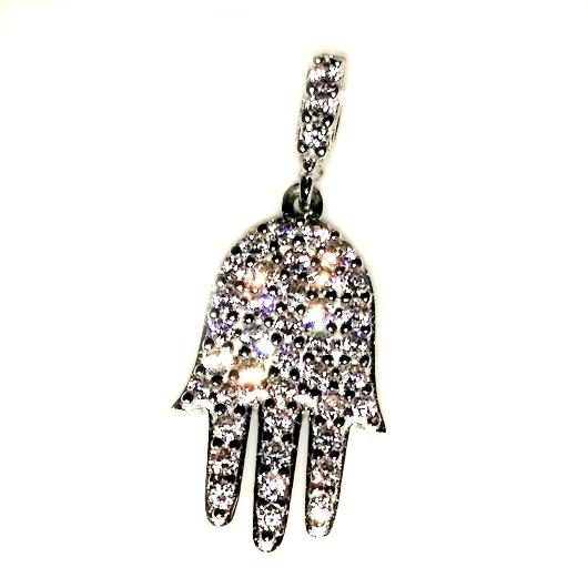 9ct white gold hamsa hand of god pendant made in europe 9ct white gold hamsa hand of god pendant aloadofball Choice Image
