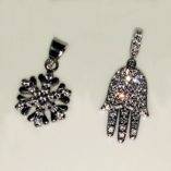 9ct-white-gold-Snowflake-and Hamsa-pendants-European-530