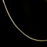 9ct-yellow-gold-curb-diamond-cut-chain-Italy