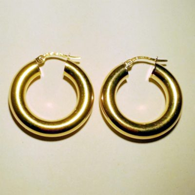 9ct Gold hoop earrings 22mm Italy