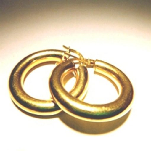 9ct Gold hoop Earrings 24mm Italy