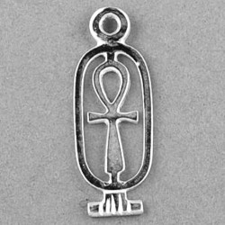 Ankh Egyptian charm pendant Sterling Silver