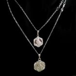chain-sterling-silver-Figaro-11-diamond-cut-St-Christopher-medals