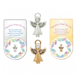 Angel pin Guardian Angel SILVER and GOLD tone
