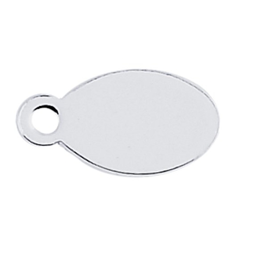 Sterling Silver oval tag stamping blank