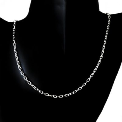 Chain Sterling Silver Cable diamond cut Italy 3mm 60cm (LCAD80)