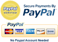 PayPal verified. Credit cards accepted. Direct bank deposit welcome
