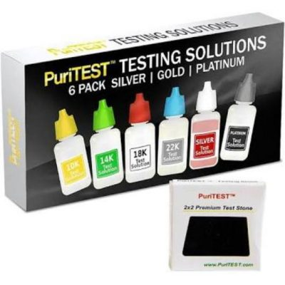 Gold Testing Kit with instructions and Premium stone