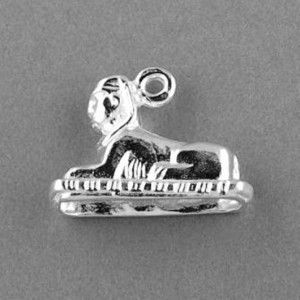 Sphinx Egyptian charm pendant Sterling Silver